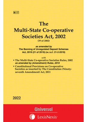 Multi-State Co-operative Societies Act, 2002 along with Rules, 2002