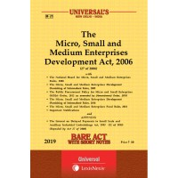 Micro, Small and Medium Enterprises Development Act, 2006 along with allied Act and Rules