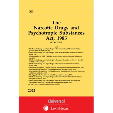 Narcotic Drugs and Psychotropic Substances Act, 1985 along with allied Act, Rules and Order