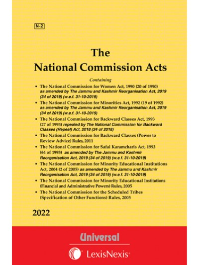 National Commission Acts [Containing 4 Acts-Women Act, 1990, Minorities Act, 1992, Backward Classes Act, 1993, Safai Karamcharis Act, 1993 and allied Information]