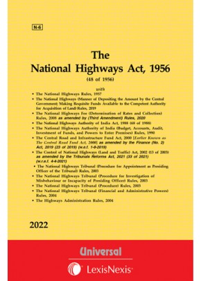 Control of National Highways (Land and Traffic) Act, 2002 see National Highways Act, 1956