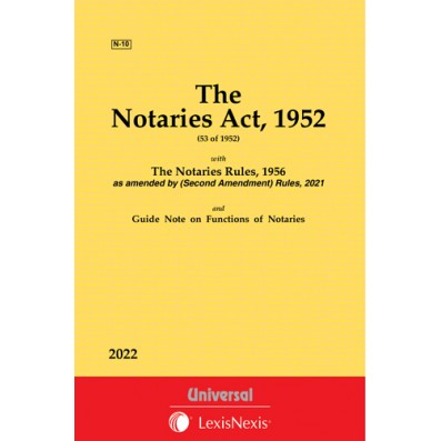 Notaries Act, 1952 along with Rules, 1956