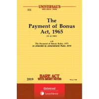Payment of Bonus Act, 1965 along with Rules, 1975