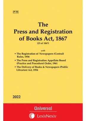 Press & Registration of Books Act, 1867 along with Rules & Order