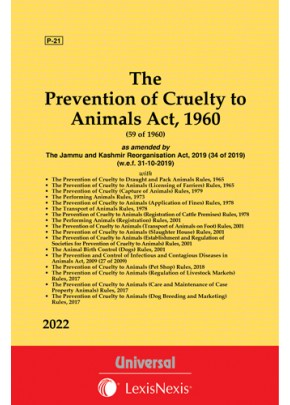 Prevention of Cruelty to Animals Act, 1960 along with allied Rules
