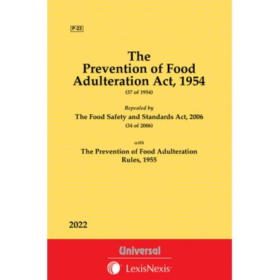 Prevention of Food Adulteration Act, 1954 along with Rules, 1955
