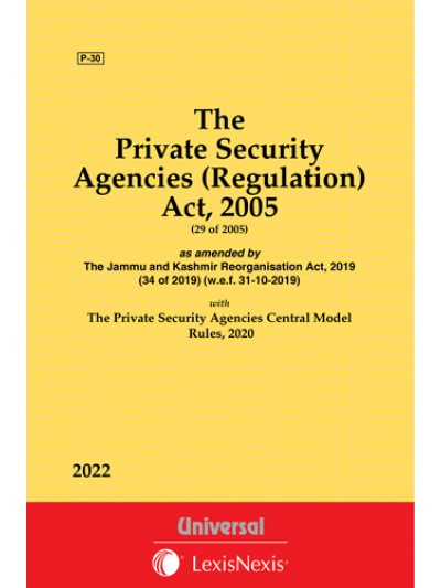 Private Security Agencies (Regulation) Act, 2005 with Rules, 2006