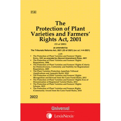 Protection of Plant Varieties and Farmers' Rights  Act, 2001 along with Rules & Regulations