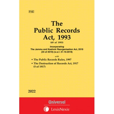 Public Records Act, 1993 along with Rules, 1997