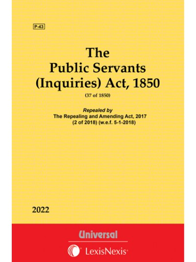 Public Servants (Inquiries) Act, 1850