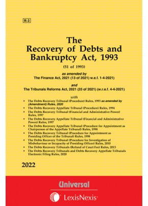 The Recovery of Debts and Bankruptcy Act, 1993 along with allied Rules
