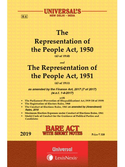 Representation of the People Act, 1950 and The Representation of the People Act, 1951 along with allied Act & Rules