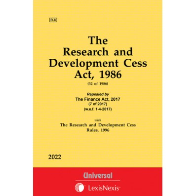 Research and Development Cess Act, 1986 along with Rules, 1996