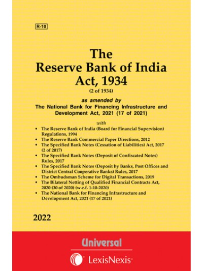 The Reserve Bank of India Act, 1934; The Specified Bank Notes (Cessation of Liabilities) Act, 2017 along wih Allied Rules