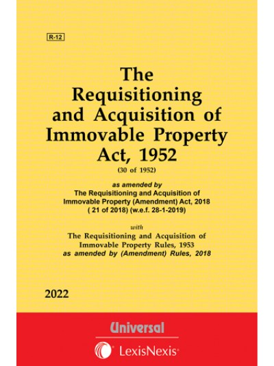 Requisitioning and Acquisition of Immovable Property Act, 1952