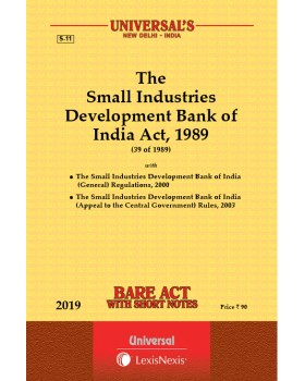 Small Industrial Development Bank of India Act, 1989 along with Rules, 2003