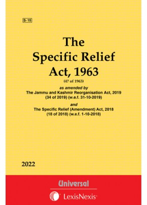 Specific Relief Act, 1963 as amended by The Specific Relief (Amendment) Act, 2018 (18 of 2018)