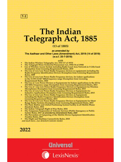 Telegraphy Act, 1885 with The Indian Wireless Telegraphy Act, 1933 along with allied Rules