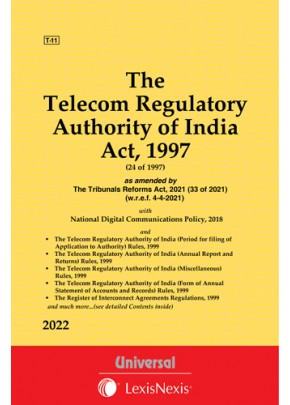 Telecom Regulatory Authority of India Act, 1997 alongwith Allied Rules & Regulations