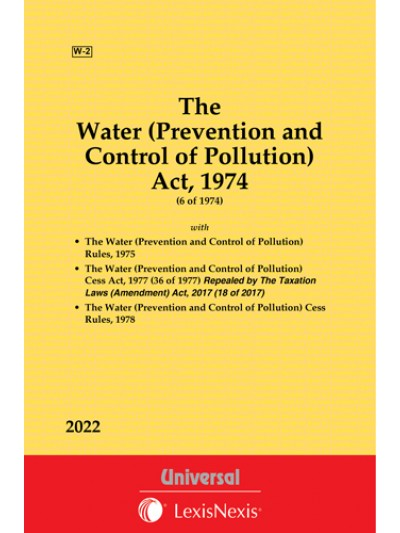 Water (Prevention and Control of Pollution) Act, 1974 along with Rules, 1975, Cess Act, 1977 and Cess Rules, 1978