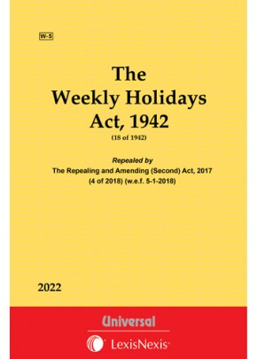 Weekly Holidays Act,1942