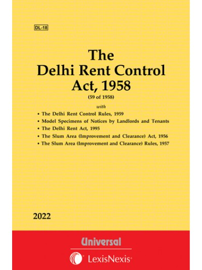 Delhi Rent Control Act, 1958 along with Rules, 1959