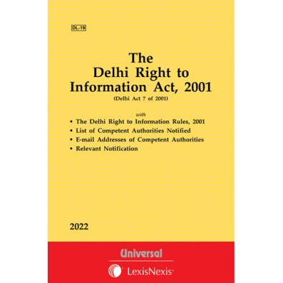 Delhi Right to Information Act, 2001 along with Rules, 2001